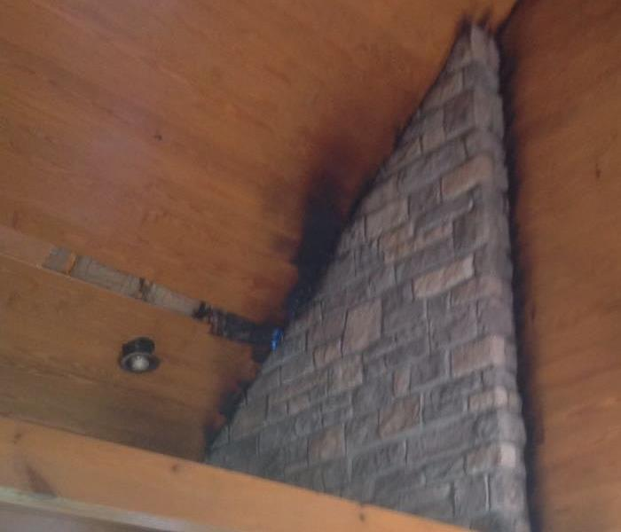 House Fire Damage from Chimney