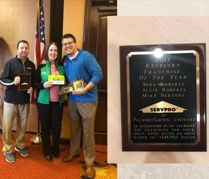General SERVPRO® of Pulaski and Laurel Counties named Kentucky Franchise of the Year!